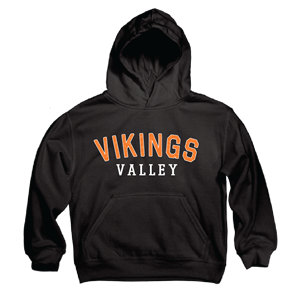 Youth Appliqued Hooded Sweatshirt