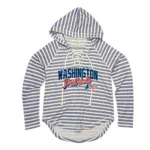 Lace Up French Terry Hood