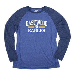 Adult Tri-Blend Long Sleeve Raglan Jersey