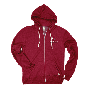 Adult Embroidered Tri-Blend Full Zip Hood